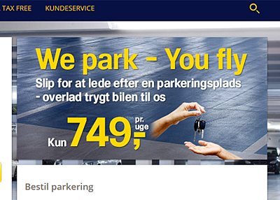park x københavns lufthavn