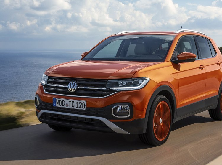 VW T-Cross set forfra